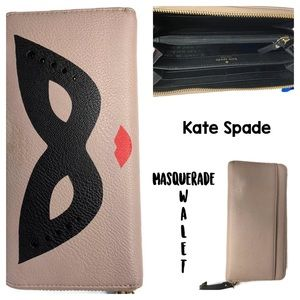 Kate Spade Mask Masquerade Full-Sized Wallet